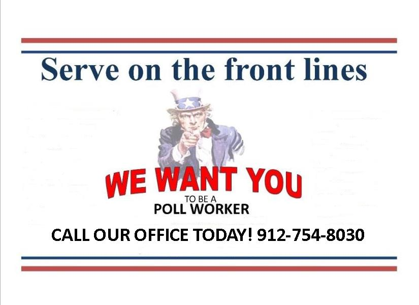 We Want You to be a Poll Worker